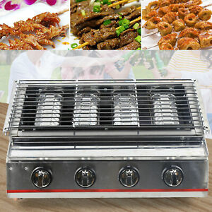 Smokeless Stainless Steel Gas Commercial Bbq Grill lpg Gas Barbecue Oven