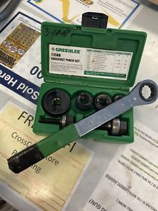 Greenlee 735bb Ball Bearing Knockout Punch Set With Ratchet 34941