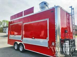 New 2021 8 5x20 Enclosed Mobile Concession Kitchen Food Vending Trailer Marquee
