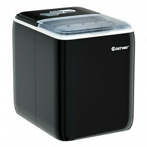 44 Lbs Portable Countertop Ice Maker Machine With Scoop black Color Black