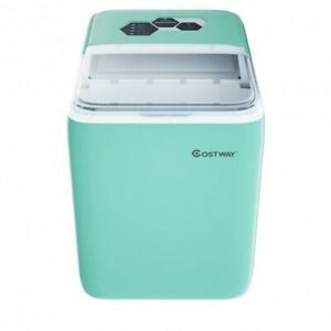 44 Lbs Portable Countertop Ice Maker Machine With Scoop green Color Green
