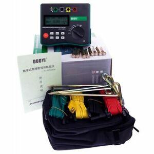 Ground Resistance Tester 4 Terminal Earth Resistance Soil Resistivity Test Tools
