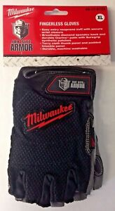 Milwaukee 49 17 0123 Gloves Fingerless Job Site Armor Xl