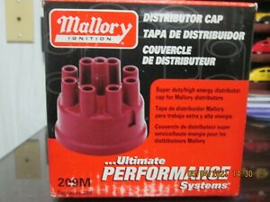 Mallory 209m Distributor Cap Female Socket style Red Clamp down Mallory V8 Nos
