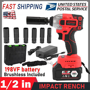 Cordless Electric Impact Wrench G un 1 2 driver 330nm li ion Battery High Power