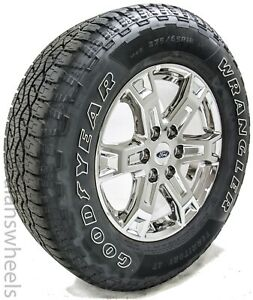 4 New 2021 Ford F150 18 Chrome Factory Oem Wheels Rims Goodyear At Tires 95023