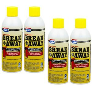 Cyclo Heavy Duty Break Away Rusted Parts Penetrating Oil Lubricant 4 Pack