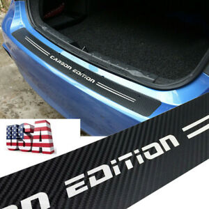 Car Parts Accessories 5d Carbon Fiber Rear Bumper Protector Anti Scratch Trim