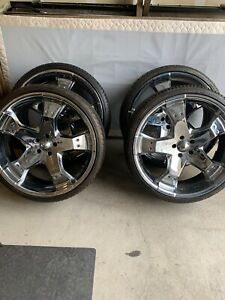 24 Greed Rims W Tires