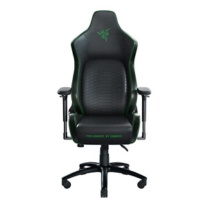 Razer Iskur Gaming Chair With Built in Lumbar Support Black Green