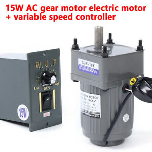 Ac Gear Motor Electric Motor Variable Speed Controller 1 10 125rpm Single phase