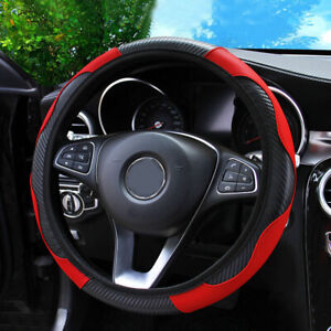 Red Car Microfiber Leather Steering Wheel Cover 38cm 15 Universal Accessories