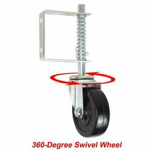 4 Gate Spring Loaded Rubber Wheel Caster Rubber Wheel For Wood Chain Link Fence