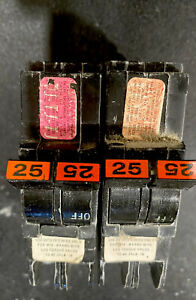 Federal Pacific 2 Pole 25 Amp Breakers The Price Listed Is Per Breaker 1 X 25 A