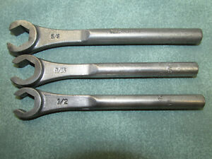 Vintage Mac Tools 3pc Flare Nut Wrench Set Line Wrench Usa 1 2 9 16 5 8