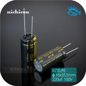 220uf 100v Kz Muse Series Nichicon Fever Audio Electrolytic Capacitor 16x35 5mm