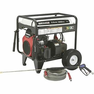 Northstar Gas Cold Water Pressure Washer 5 0 Gpm 5000 Psi Electric Start