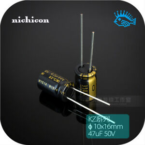 47uf 50v Kz Muse Series Japan Nichicon Fever Audio Electrolytic Capacitor 10x16