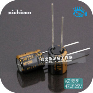 47uf 25v Kz Muse Series Nichicon Japan Fever Audio Electrolytic Capacitor 10x12