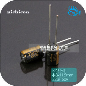 22uf 50v Kz Muse Series Nichicon Japan Fever Audio Electrolytic Capacitor 8x11 5