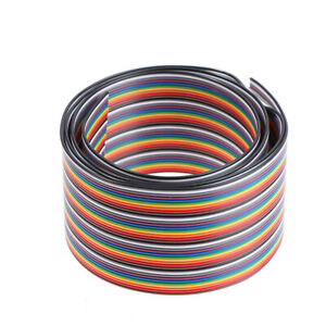 40p 2 54mm Pitch Color Flat Ribbon Cable Rainbow Wire 1m For Connector Line ss