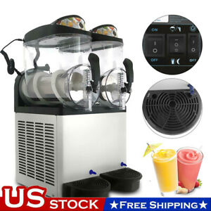 24l Commercial Slush Making Machine Frozen Drink Machine Ice Maker 2 Tanks