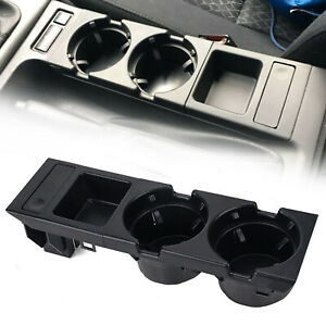 Plastic Front Center Console Coin Holder Drink Cup Holder For Bmw E46 3series Ca