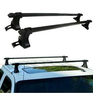 48 Universal Roof Top Luggage Cargo Cross Bars Rack Black Fits Suv And Truck
