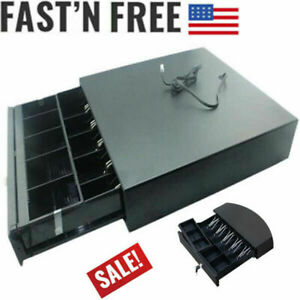 Compartment Cash Register Drawer Box 5 Bill 5 Coins Tray For Home Commercial Use