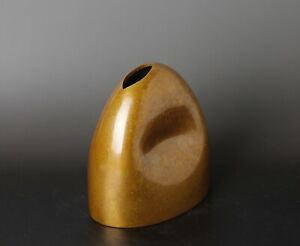 Unique Shape Japanese Bronze Vase Kk84