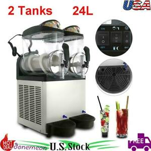 1000w 24l Slush Making Machine 2 X 12l Slushie Machine Frozen Drink Machine