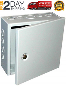 1 Sheet Metal Junction Box Electric Hinged Cover Enclosure Wire 6x4x3