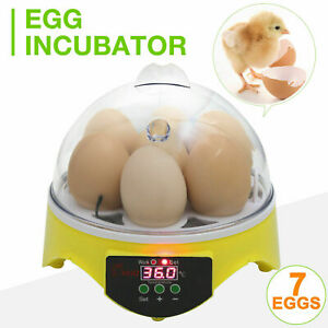 7 Eggs Turner Automatic Hatcher Egg Incubator Digital Poultry Chicken bird New