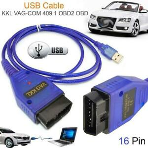 Car Usb Vag Com Interface Cable Kkl Vag Com 409 1 Obd2 Ii Obd Diagnostic Scanner