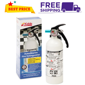 Fire Extinguisher Home Car Office Safety Kidde 5 b c 3 lb Disposable Marine