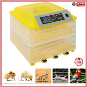 56 112eggs Chicken Goose Incubator Automatic Egg Incubator Poultry Hatcher 110v