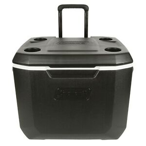 Coleman Ice Chest Cooler 50 quart Xtreme 5 day Heavy duty With Wheels Beach Fun