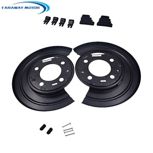 Rear Brake Dust Shield Backing Plates Pair For 1999 2015 Ford F 350 Super Duty