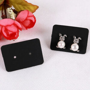 100x Jewelry Earring Ear Studs Hanging Display Holder Hang Cards Organizer b_nd