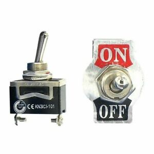 New Spst 2pin Heavy Duty 15a 250v On off Rocker Toggle Switch