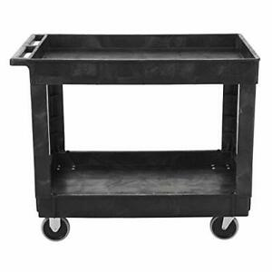 Rubbermaid Commercial Products 2 shelf Utility service Cart Medium Lipped She