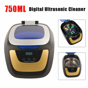 750ml 50w Auto Digital Ultrasonic Cleaning Machine Lens Jewelry Cleaner Muti use