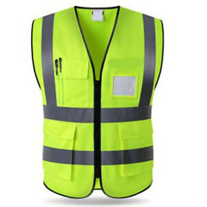 Premium High Visibility Reflective Safety Vest Waistcoat Outdoor Traffic