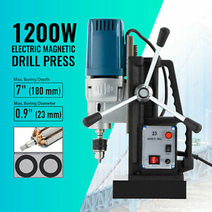 1200w Portable Electric Magnetic Drill Press 0 9in Bore 2900lb Magnetic Force