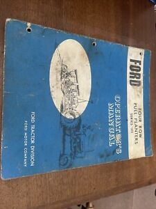 Ford Tractor Series 311 Four Row Pull Planters Operator s Manual