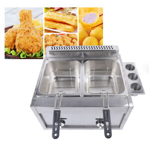 Commercial Countertop Gas Deep Fryer Propane lpg 12l Basket Round Infrared Stove