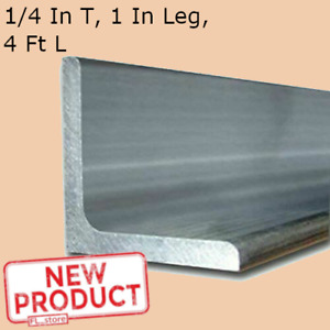 Aluminum Angle 1 4 Inch X 1 Inch X 4 Ft Length Alloy 6061 90 Stock Unpolished