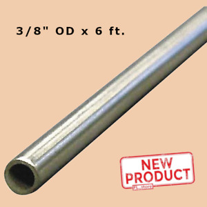 Round Tubing 304 Stainless Steel 3 8 Inch Od X 6 Feet Welded 0 319 Inside Dia