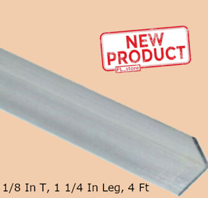Aluminum Angle 1 8 Inch X 1 1 4 Inch X 4 Ft Unpolished Alloy Smooth 90 Stock