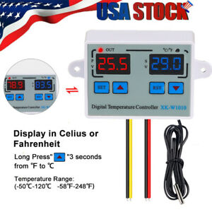 Digital Thermostat c f Temperature Controller Led 10a Direct Output Us H7c8
